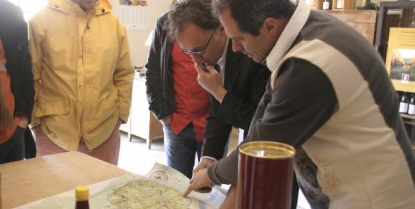 Avec A Mathieu vigneron au domaine du même nom à Châteauneuf di Pape