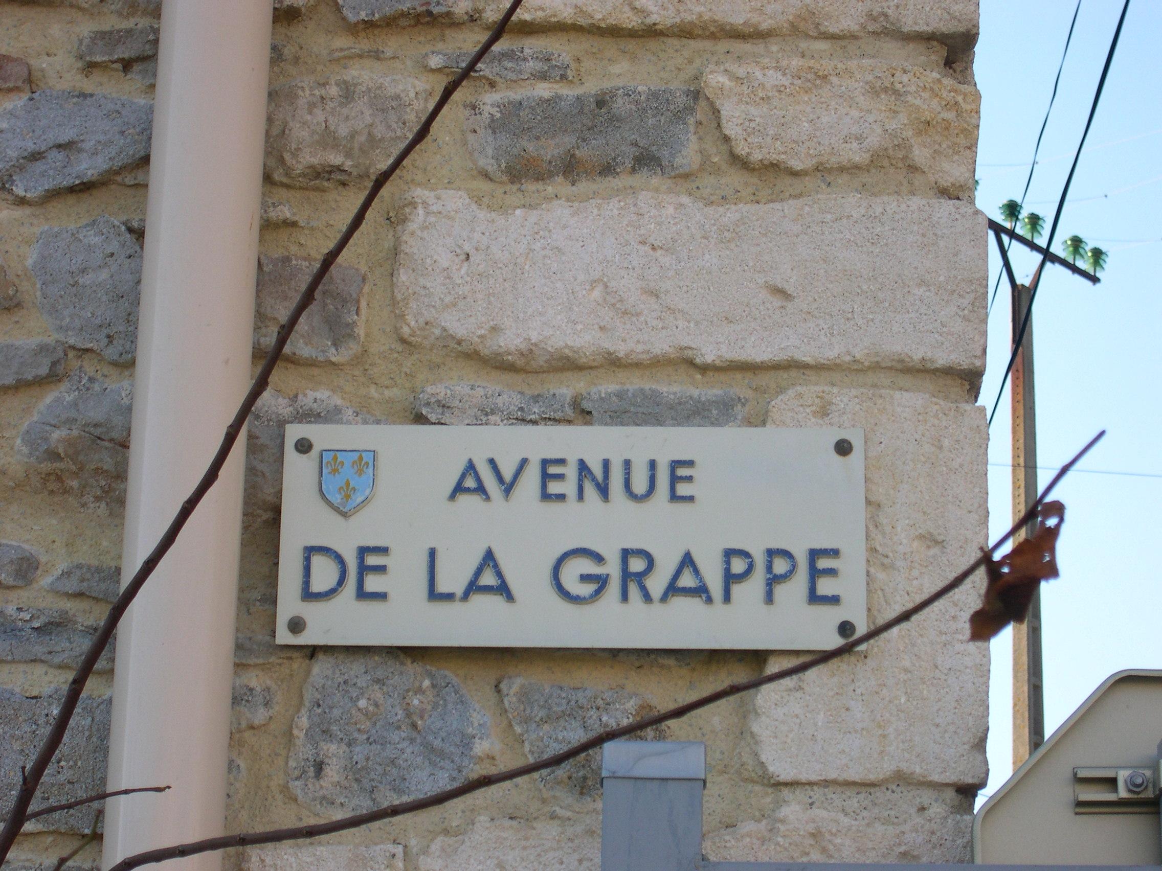 Avenue de la grappe