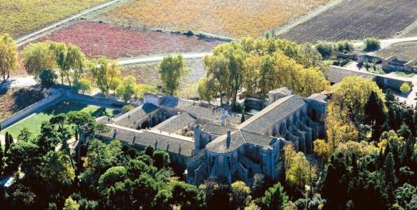 L'abbaye de Valmagne en automne, l'un des grand centres de l'oenotourisme en Languedoc