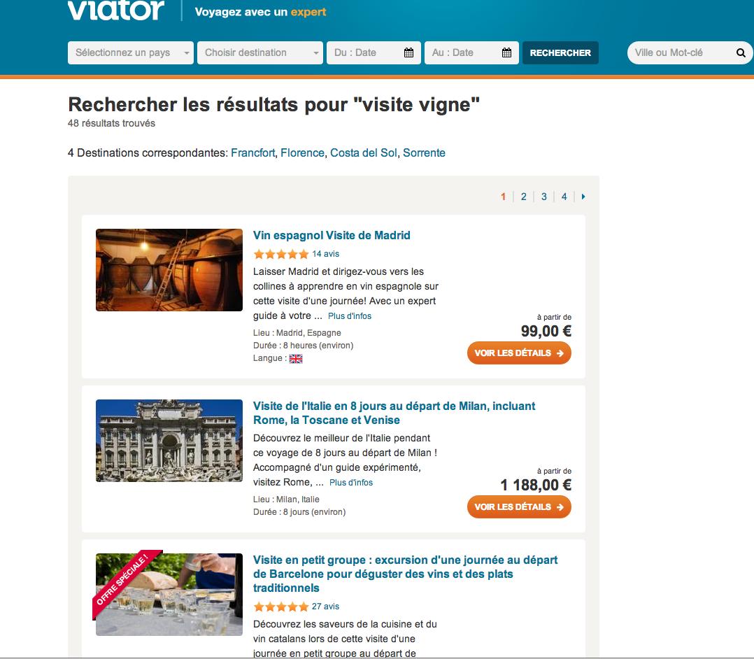 Le site de vente on-line VIATOR a complètement changé les comportements de consommation.
