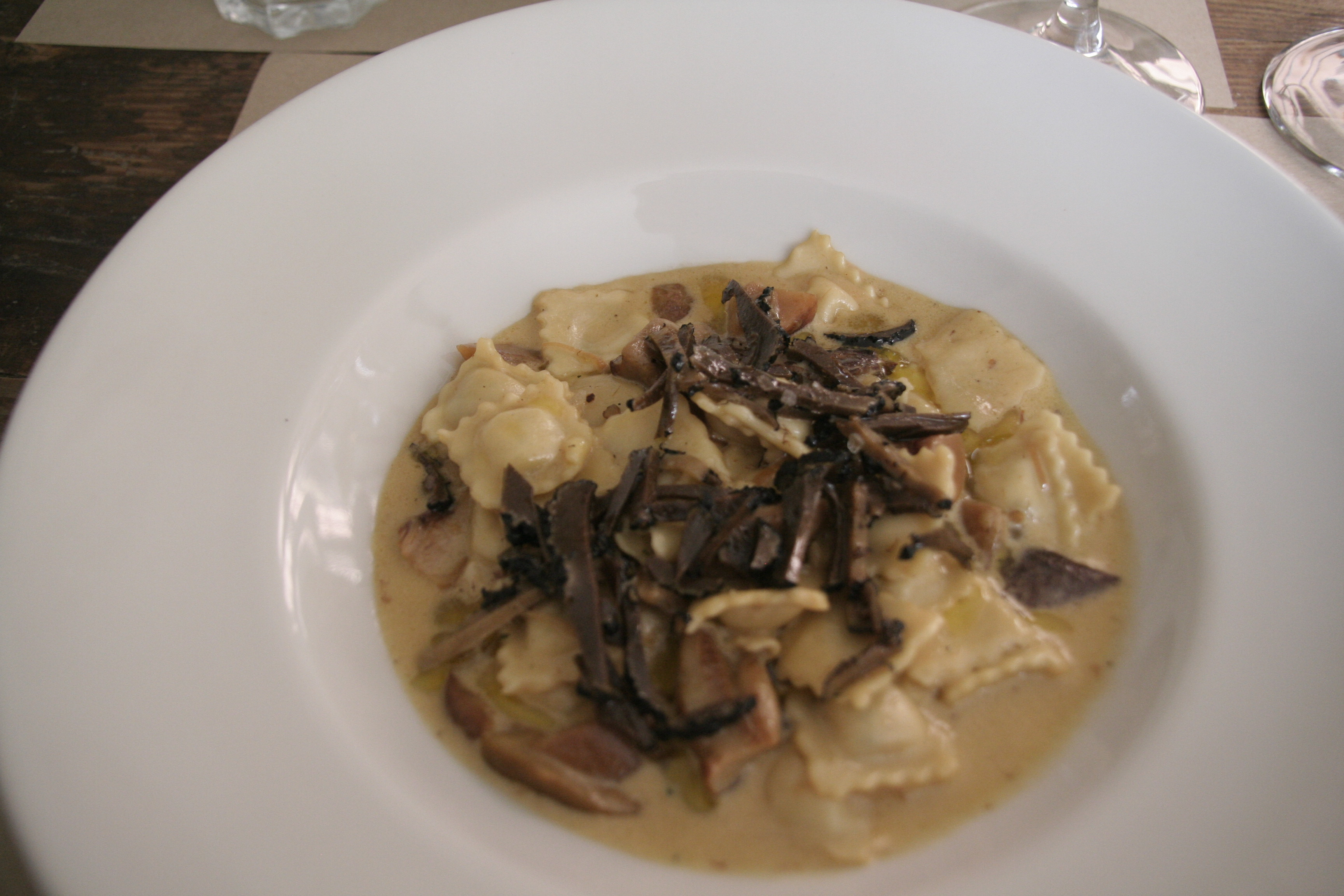 """Ravioles aux truffes """"chez Serge"""" à Carpentras"""